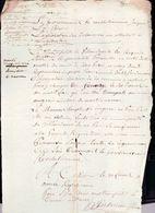 Lettre Gouvernement Revolutionnaire ,transport De Fourrage De Villandreaut En Gironde A Mont De Marsan - Documents Historiques