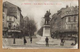 X26116 VALENCE Drome Hotel Voyageurs RANCON Bureaux Des Bains BESINEUX Statue BANCEL Et Rue De La GARE P.S.V 36 - Valence