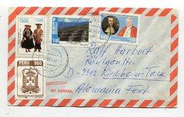 Peru / 1987 / Int. Frank. Lupo-Brief Nach Deutschland (40044) - Peru