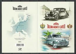 ESTLAND Estonia 2018 Electric Cars Marathon Tallinn - Monte Carlo Michel 932 - 933 Booklet MNH - Estonie