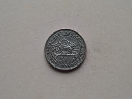 1956 - 50 Cents ( KM....  ) Uncleaned ! - Colonie Britannique