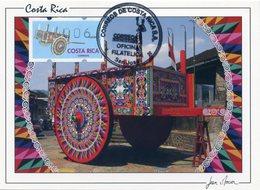 COSTA RICA - Carte Card - ATM Klüssendorf - Sarchi Ox-cart, Oxcart, Carreta, Charrette - San José - Costa Rica
