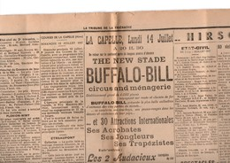 AISNE ETREAUPONT TAVAUX-PONTSERICOURT SAINT-ALGIS LA-CAPELLE BUFFALO-BILL - Historical Documents