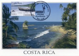 COSTA RICA - Carte Card - ATM - Playa Manzanillo / Manzanillo's Beach / Pointe Manzanillo - San José - Costa Rica