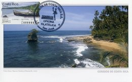 COSTA RICA - Carte Card - ATM - Playa Manzanillo / Manzanillo's Beach / Punta Mona - San José (Prefranked Postcard) - Costa Rica
