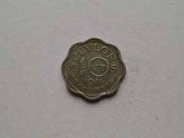 1944 - 10 Cents ( KM 118  ) Uncleaned ! - Sri Lanka