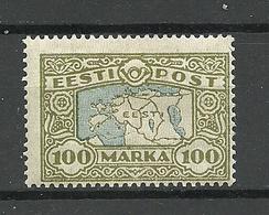 Estland Estonia 1923 Map Michel 40 Ligatne Paper * - Estonia