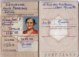 VP13.479 - MARSEILLE 1995 - Passeport - Mme BENYCAR Née à MONASTIR (Turquie ) Veuve PERRIAND - Police & Gendarmerie