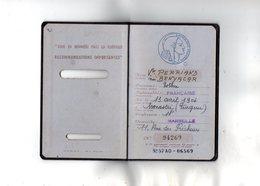 VP13.480 - MARSEILLE 1958 - JUDAICA - Passeport - Mme BENYCAR Née à MONASTIR (Turquie ) Veuve PERRIAND - Polizia