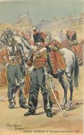 GARDE IMPÉRIALE - Trompette Des Guides 1857,carte Illustrée Par Pierre Albert Leroux. - Uniformes
