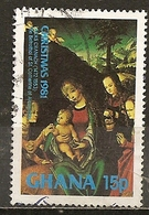 Ghana 1981 Noel Christmas Obl - Ghana (1957-...)