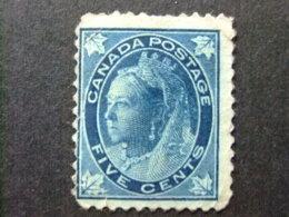 CANADA 1897 - 98 Reine Victoria Queen Victoria Yvert 58 (*) Sin Goma- Defect - Usados