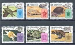Mtw879 FAUNA REPTIELEN SCHILDPAD REPTILES TURTLE CAMBODGE CAMBODJA 1998 PF/MNH - Turtles