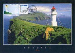 FAROE ISLANDS (2018) - ATM Lighthouse, Faro, Leuchtturm, Phare, Fyr - Maximum Card Mykines - Islas Faeroes