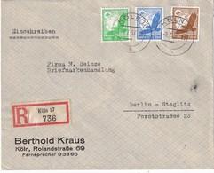 ALLEMAGNE  1937 LETTRE RECOMMANDEE DE KÖLN AVEC CACHET ARRIVEE BERLIN - Allemagne