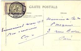1913- C P A -Tananarive- Hôtel Des Postes - SUPERBE Oblit. DIRECTION Des P Et T - Madagascar (1889-1960)