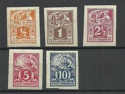 Estland Estonia 1922/23 Michel 32 - 34 & 37 B & 39 B  * - Estonie