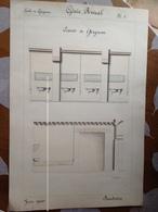Architecture - Original Dessiné Par Baudouin Juin 1900 - Ecurie Ecole De Grignon (78) - Architecture