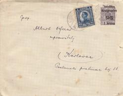 Jugoslavija 1921 SHS Postal Stationery Letter Upfranked With 1921 Definitive Stamp, Rare Combination - 1919-1929 Königreich Der Serben, Kroaten & Slowenen