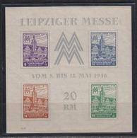 SBZ Leipziger Messe Blockausgabe MiNo. 5Y ** übliche Gummibüge (220.-) - Soviet Zone