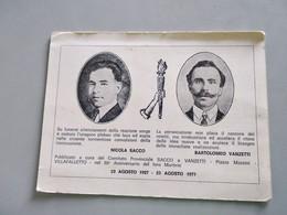 CARTOLINA VILLAFALLETTO - COMITATO PROVINCIALE SACCO E VANZETTI - Cuneo