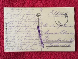 FELDPOST 1.WK  ORTKOMMANDANTUR  (276) Auf AK OSTENDE  1915 - Germany