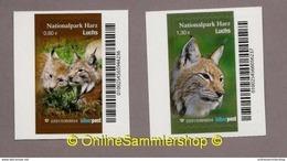 Privatpost -  Biberpost -  (2 Werte) - Luchs (Lynx Lynx) - Raubkatzen