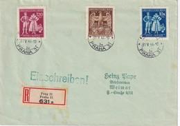 BOHEME ET MORAVIE 1944 LETTRE RECOMMANDEE DE PRAGUE SANS CACHET ARRIVEE - Covers & Documents