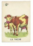 La Vache Veau Chromo Image Carte à Jouer 105 X 73 Mm Bien 2 Scans - Vieux Papiers