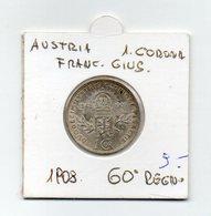 Austria - 1908 - 1 Corona - Francesco Giuseppe - 60° Regno - Argento - (MW1920) - Austria