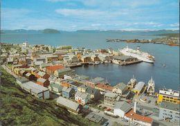 Norway - Hammerfest - Harbour - Ships - Cars - Norwegen