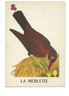 La Merlette Chromo Image Carte à Jouer 105 X 73 Mm Bien 2 Scans - Vieux Papiers