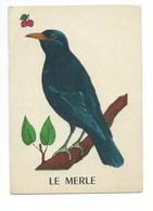 Le Merle Chromo Image Carte à Jouer 105 X 73 Mm Bien 2 Scans - Vieux Papiers