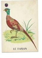 Le Faisan Chromo Image Carte à Jouer 105 X 73 Mm Bien 2 Scans - Vieux Papiers