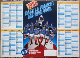MEXICO Calendrier 1986 Coupe Du Monde, Platini, Assurance A G F - Calendars