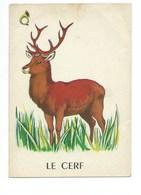 Le Cerf Chromo Image Carte à Jouer 105 X 73 Mm Bien 2 Scans - Vieux Papiers