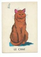 Le Chat Chromo Image Carte à Jouer 105 X 73 Mm Bien 2 Scans - Vieux Papiers