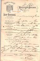 Document Du 26/07/1895 BOURREL Brasserie Anglaise - Larroque-d'Olmes 09 - 1800 – 1899