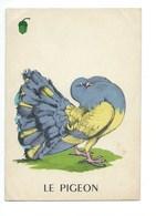 Le Pigeon Chromo Image Carte à Jouer 105 X 73 Mm Bien 2 Scans - Vieux Papiers