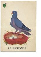 La  Pigeonne Chromo Image Carte à Jouer 105 X 73 Mm Bien 2 Scans - Vieux Papiers