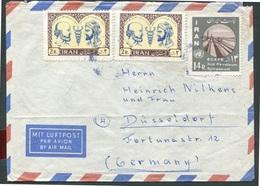 Iran - Michel 1121 + 2x 1122 Auf Luftpostbrief / On Airmail Letter  - Oo Oblit. Used Gebruikt - Iran