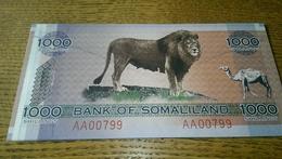 Somalie 1000 Schillings 2006 Unc Low Serial - Somalie