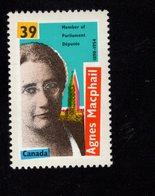 675488314 CANADA 1990  POSTFRIS MINT NEVER HINGED POSTFRISCH EINWANDFREI SCOTT 1283 AGNES CAMPBELL MACPHAIL - 1952-.... Règne D'Elizabeth II