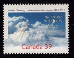 675488980 CANADA 1990  POSTFRIS MINT NEVER HINGED POSTFRISCH EINWANDFREI SCOTT 1287 WEATHER OBSERVATIONS IN CANADA 150TH - 1952-.... Règne D'Elizabeth II