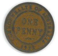 AUSTRALIE - AUSTRALIA - 1 PENNY 1933 GEORGE V - Monnaie Pré-décimale (1910-1965)