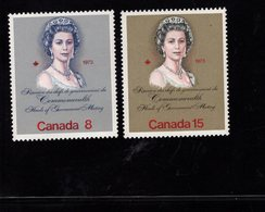 675491137 CANADA 1973  POSTFRIS MINT NEVER HINGED POSTFRISCH EINWANDFREI SCOTT 620 621 QUEEN ELIZABETH II - 1952-.... Règne D'Elizabeth II