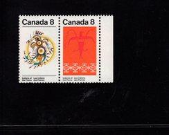 675491656 CANADA 1972 POSTFRIS MINT NEVER HINGED POSTFRISCH EINWANDFREI SCOTT 563A THUNDERBIRD ASSINIBOIN PATTERN - 1952-.... Règne D'Elizabeth II