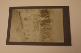 CPA CARTE PHOTO DE VACANCES ANCIENNE CARTONNEE 44 LOIRE ATLANTIQUE GUERANDE 1911 PROCESSION FETE DIEU EGLISE - Guérande