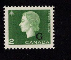 675492334 CANADA 1963 POSTFRIS MINT NEVER HINGED POSTFRISCH EINWANDFREI SCOTT O47 402 OVPTD TYPE A - 1952-.... Règne D'Elizabeth II
