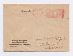 Firmen Umschlag Georg Langner Briefmarken Versand Ahrensburg, AFS HAMBURG, V, 3Pfg, 1944 - Deutschland